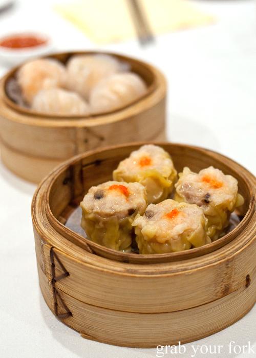 Siu mai pork dumplings at yum cha, The Eight, Chinatown