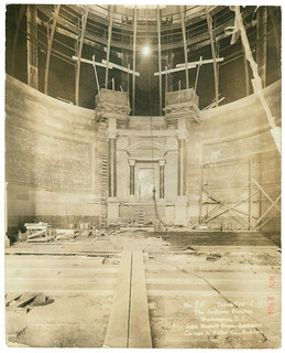 Photograph of the Rotunda of the National Archives Building Being Constructed, 11/03/1934