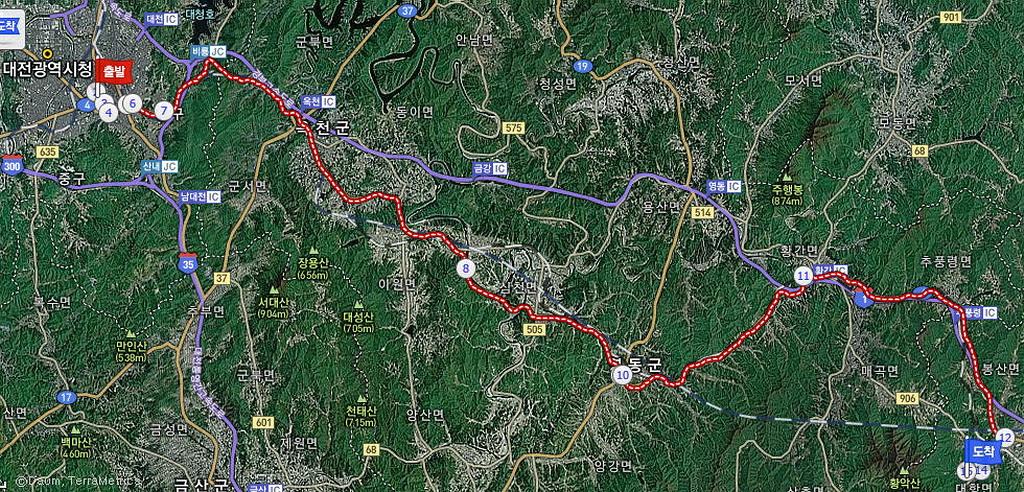 map Daejeon-Jikjisa