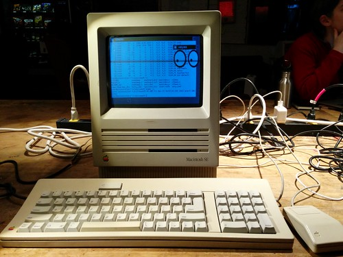 Mac SE with a BeagleBone Black motherboard