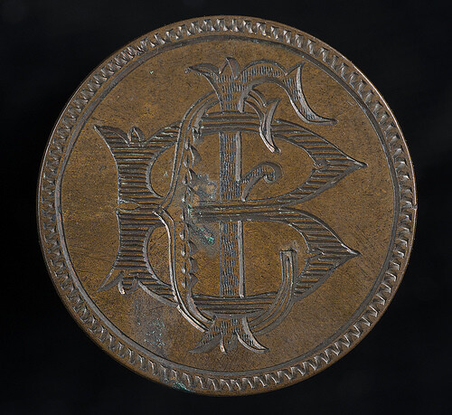 Love token monogram CFB