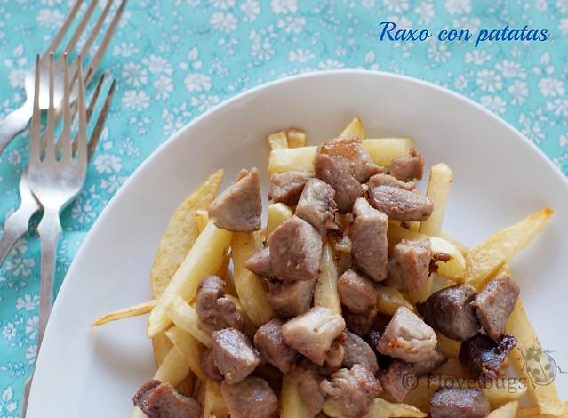 Raxo con patatas