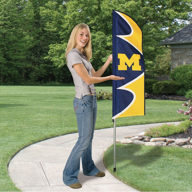 Michigan Short Feather Flag