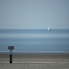Sailboat offshore