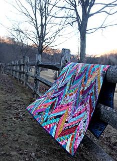 A Winter Herringbone Quilt