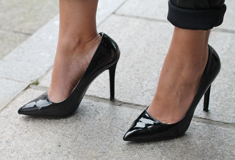 black, heels, zapatos negros