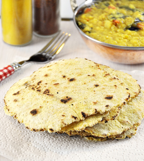 4 Ingredients Chickpea & Coconut Flatbread / Besan Roti, Vegan Friendly & Gluten Free