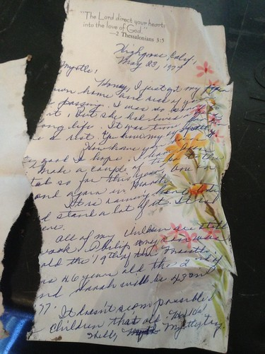 Found in the Melting Snow: Handwritten Note From 1977