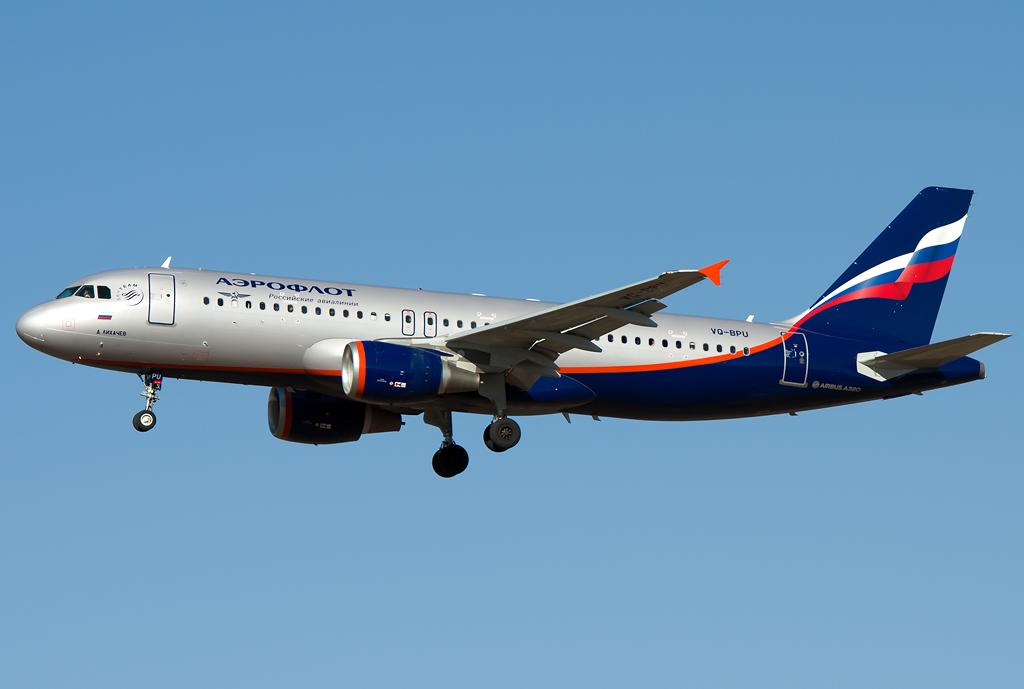 VQ-BPU - A320 - Aeroflot