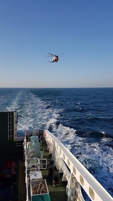 Stornoway Coastguard Helicopter coming to say hello