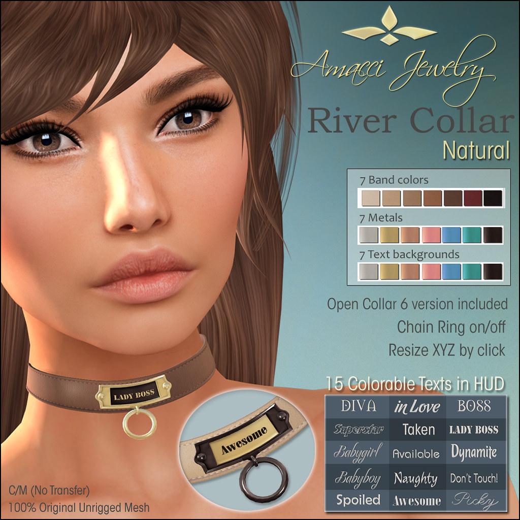 Amacci Tag Collar River - SecondLifeHub.com