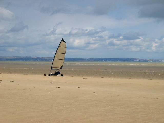 Sand yachting at Romney Sands