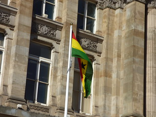 Ghana flag - Birmingham Council House, Victoria Square
