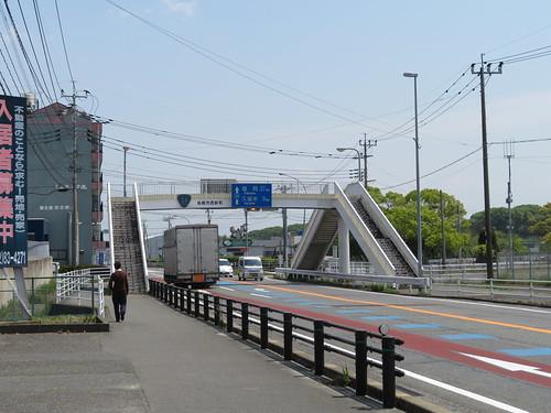 佐賀競馬場前の歩道橋