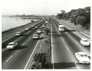 Morning traffic on northern motorway. Auckland