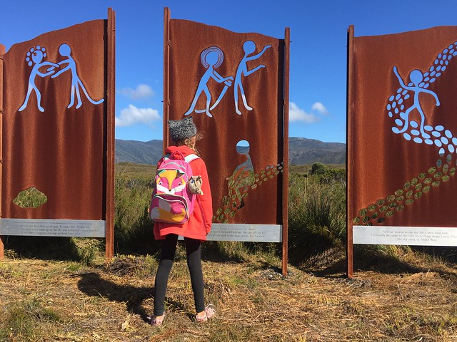 Zoe on the Needwonnee walk at Melaleuca.