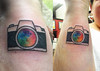camera with rainbow lens