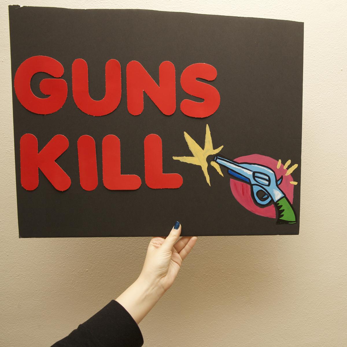 45 Protest Signs_Brandon and Olivia Locher_25_Guns Kill