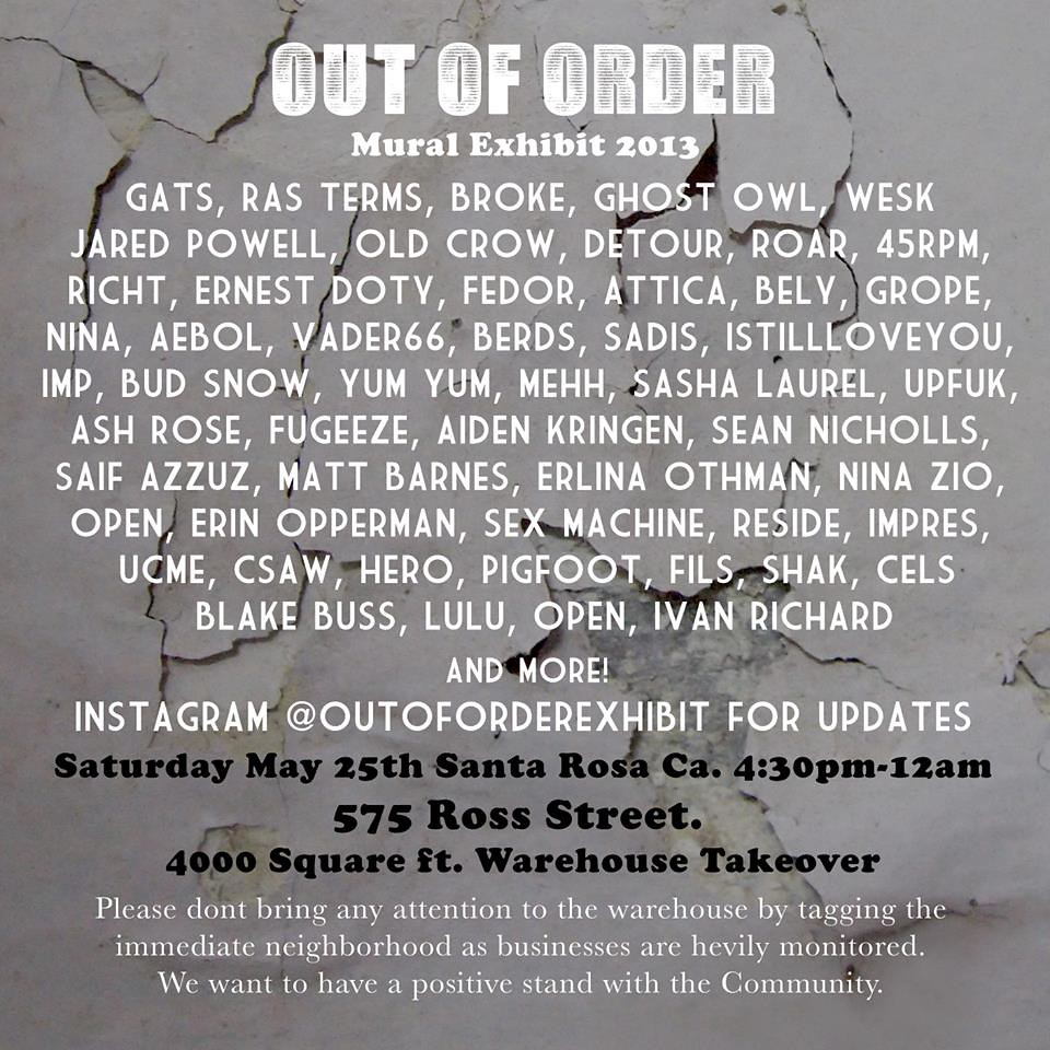 Street Art, Graffiti, Oakland, Art Show, Bely, Hero, Broke, Gats, Ghost Owl, Ras Terms, Nina, Csaw
