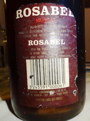 Rosabel Muscat Etikett alt