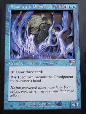Arcanis the Omnipotent 3D by Shazaam, altered art magic the gathering magic card art 3D Card art 3D Magic cards