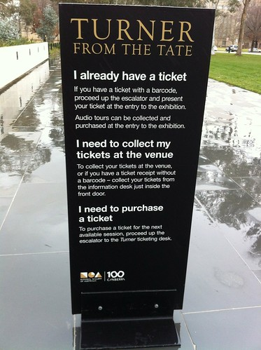 Message about tickets