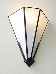 lamp, light fixture, triangle, sconce, lighting,