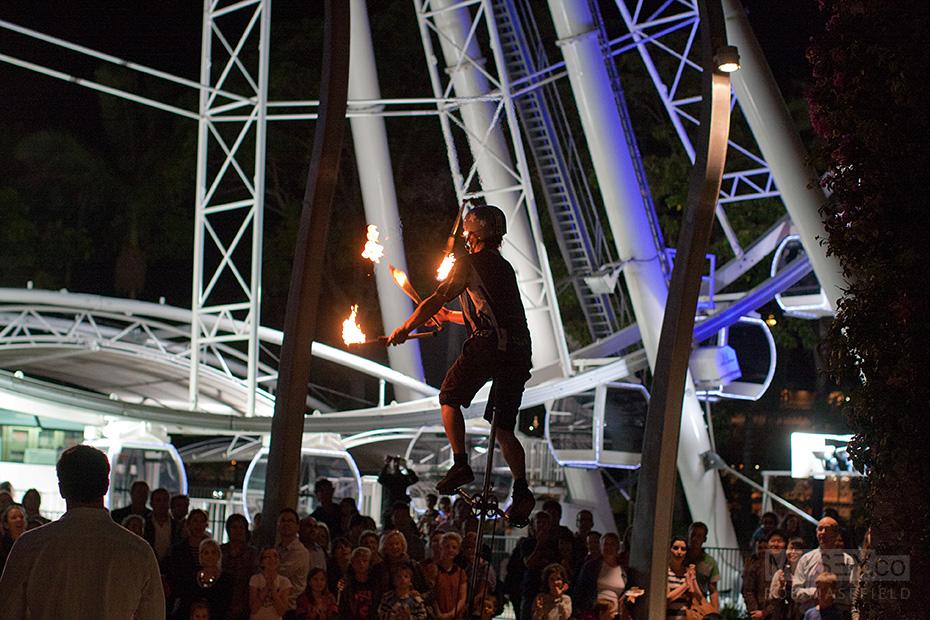 A Brisbane Festival street performer.