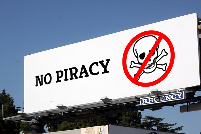 No Piracy billboard