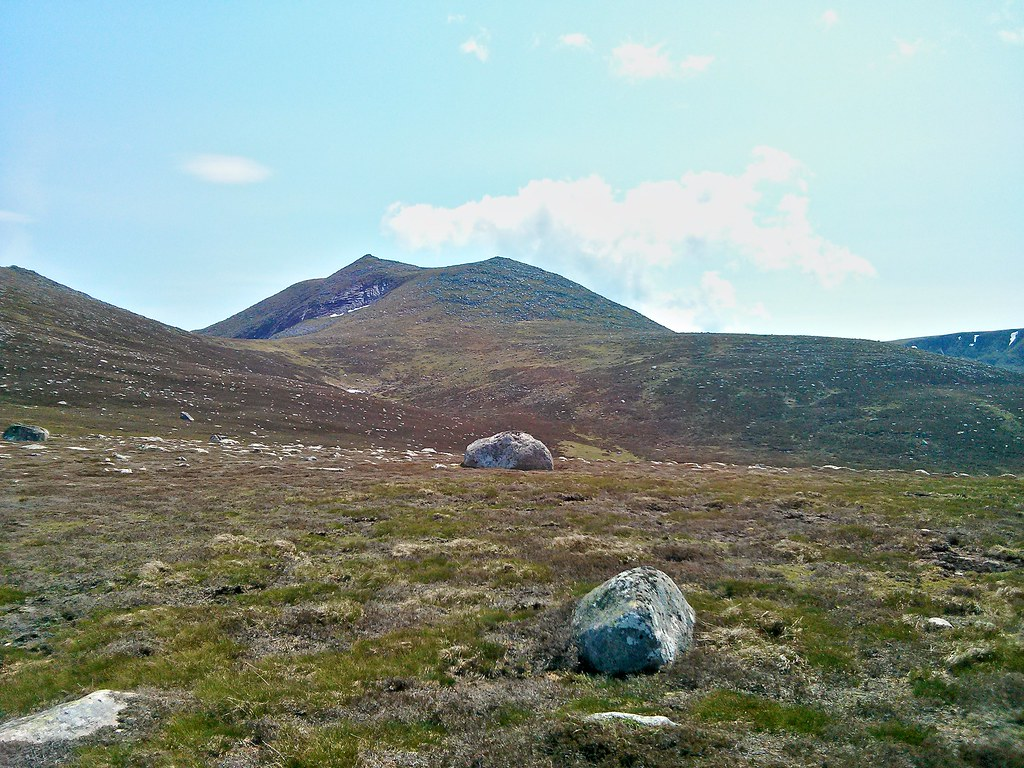Lochnagar from above Blacksheil Burn