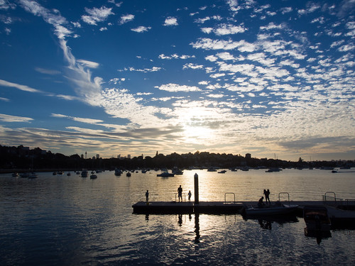 Autumn evenings over Rose Bay