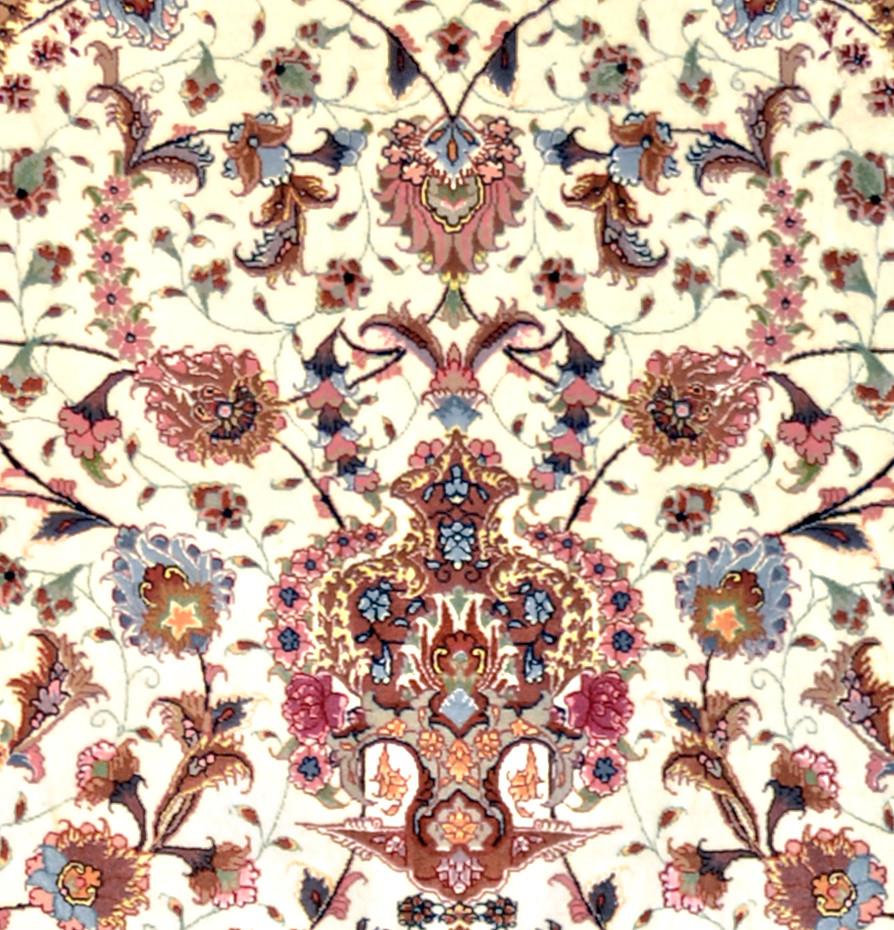 Tabriz Shiva Silk Persian Area Rug