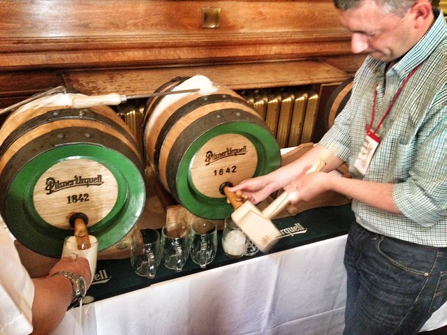 Tapping Pilsner Urquell