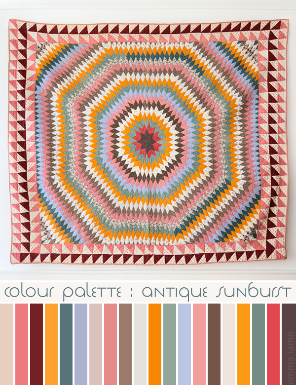 colour palette : antique sunburst - image via The Apartment, palette curated by Emma Lamb