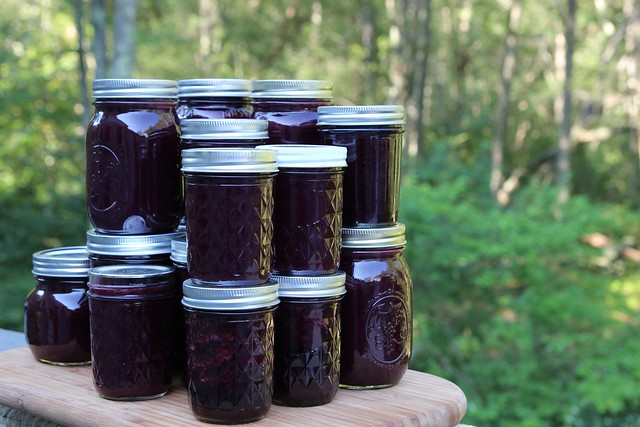 lavender + lemongrass blueberry jam