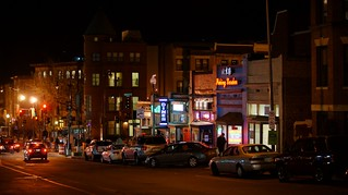 DC's Adams Morgan at night (by: Ted Eytan, creative commons)