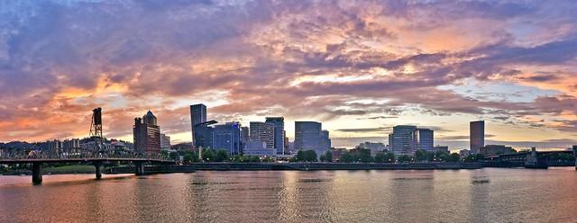 Portland Sunset Panorama3