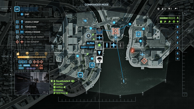 Battlefield 4 - Commander Mode screen