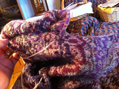 Zauberflote sleeve progress, about halfway down the armhole. by BlueDragon2