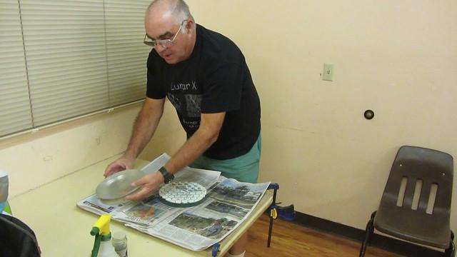 MVI_3578 TimC working on 8inch w newspaper absorption