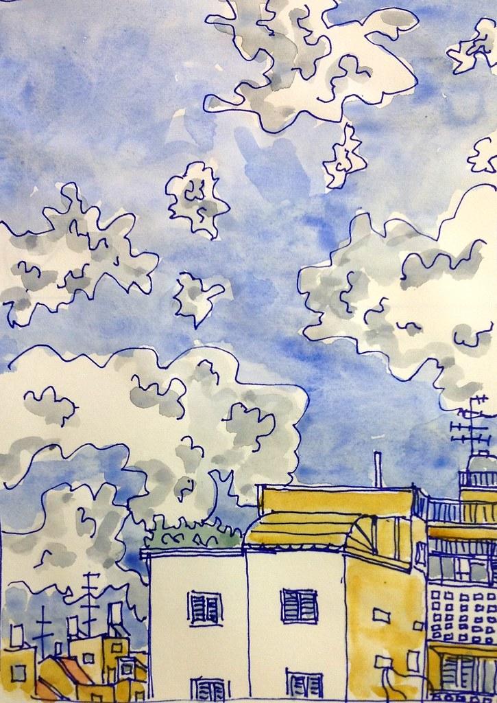 עננים מעל כפר גנים 9.9.13 1
