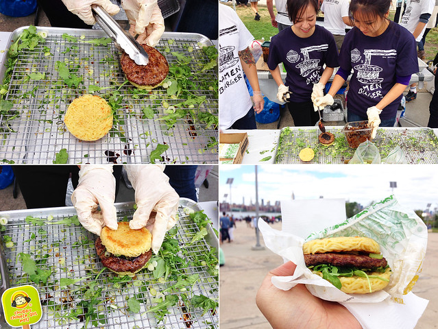 ramen burger - assembly line - smorgasburg brooklyn view