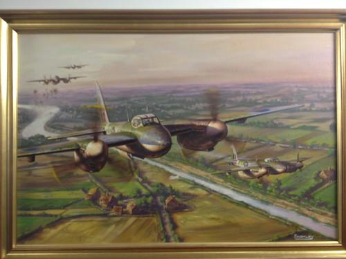 Mosquito Attack - De Havilland Mosquitoes in low-level sortie over Dutch canals in 1944