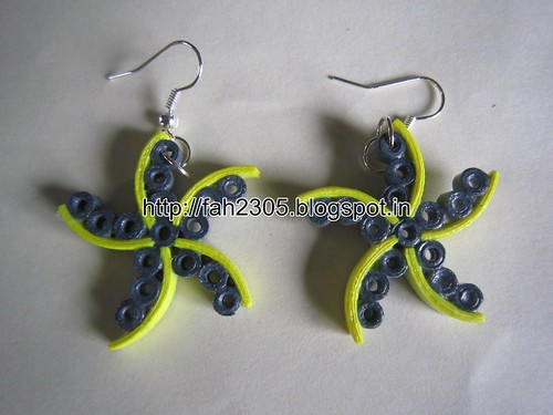 Handmade Jewelry - Paper Quilling Star Earrings (2) by fah2305