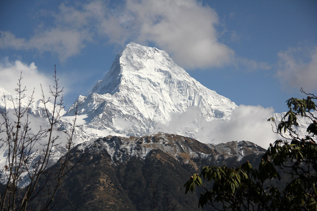View of Annapurna on a clear morning