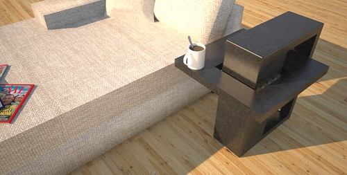 Contemporary end tables designed and created by Designs by Rudy