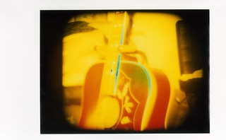 lca + back instax film with colour splash