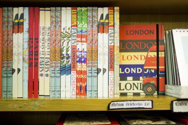 London Paris quirky notebooks