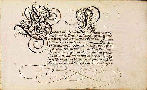 002-Kalligraphische Schriftvorlagen- 1626-1634- Johann Hering- Staatsbibliothek Bamberg