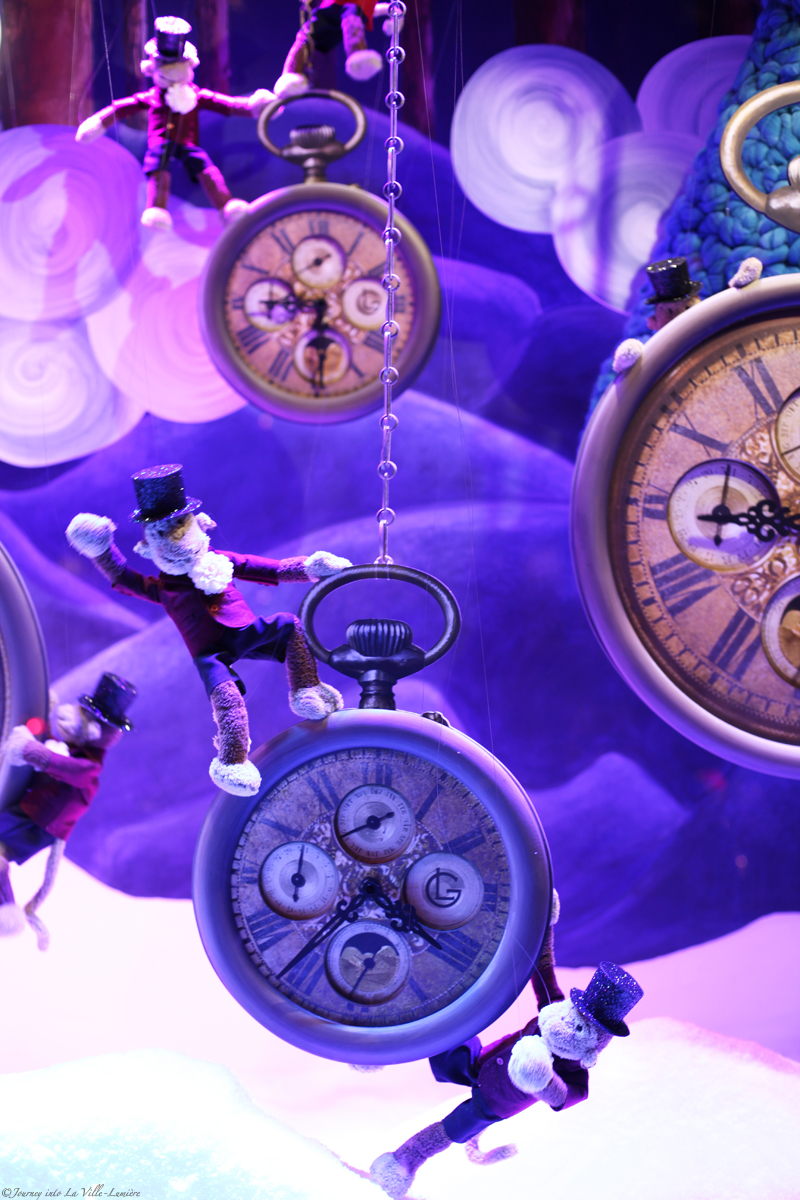 Christmas window displays at Galeries Lafayette